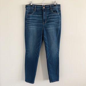 American Eagle Super Hi-Rise Jegging Blue Jeans 16